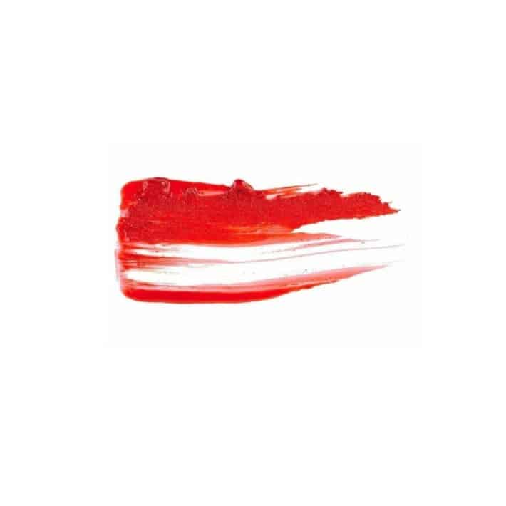 sample of Thrillest vibrant red lipstick color from Kosas