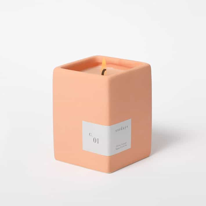 square shaped candle