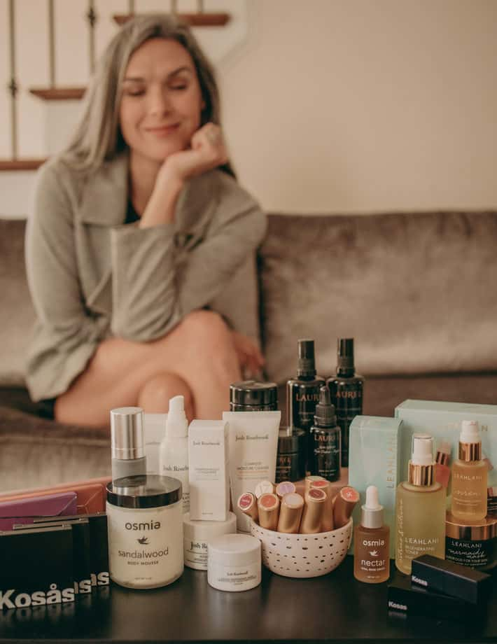 lisa with VERT beauty products