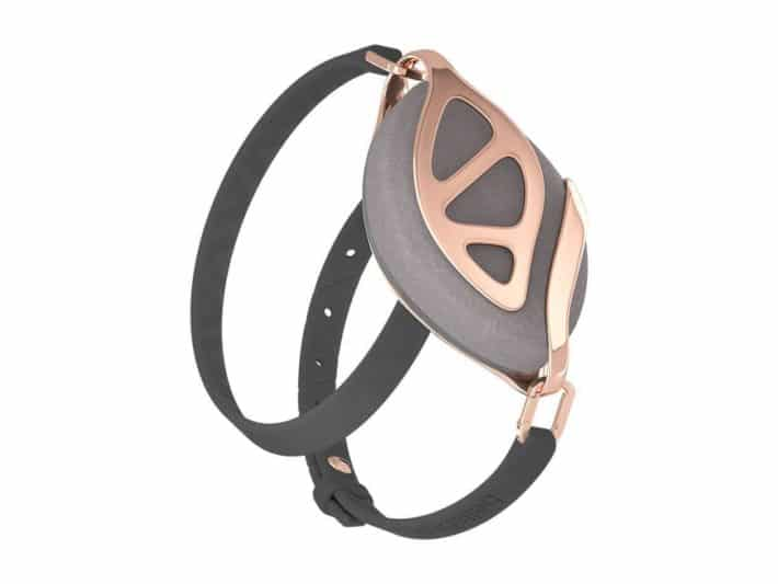 details on the Bellabeat Leaf Urban Wellness Tracker show copper