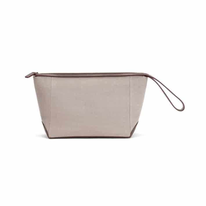 details on the Cuyana Men Travel Zipper Pouch