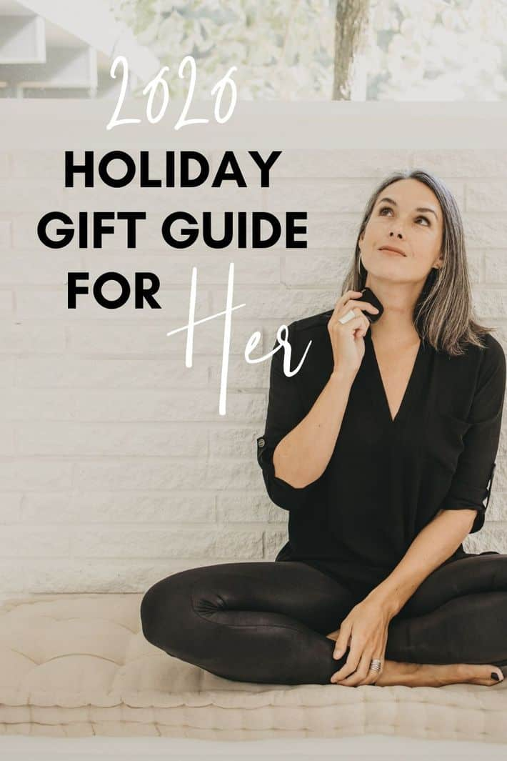 using a gua sha stone and looking at the words gift guide