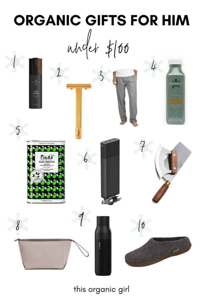 10 organic and sustainable gifts for him