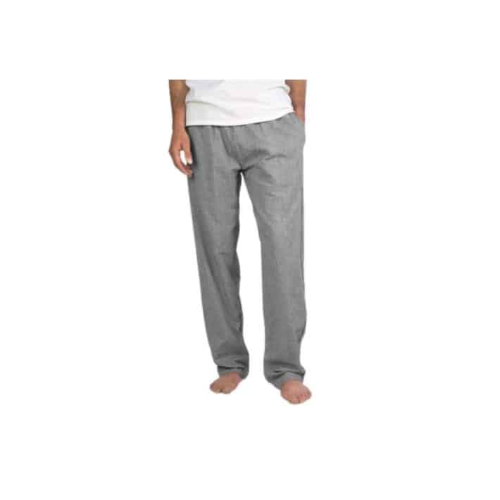 man wearing pair of gray Organic Crinkled Pajama Pant