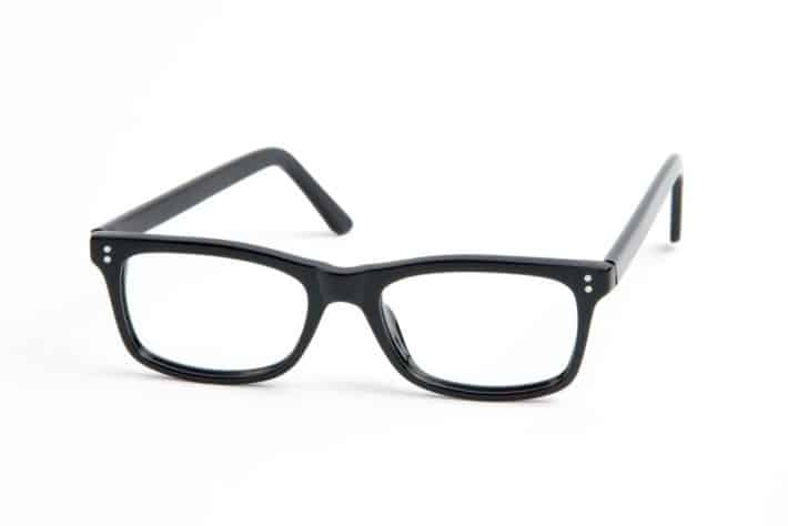 details on the AOX Blue Light Glasses show a stylish black frame