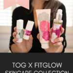 this organic girl holding a bunch of fitglow products