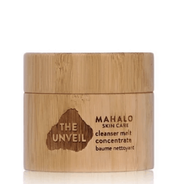 Jar of Mahalo Skincare The Unveil cleanser concentrate