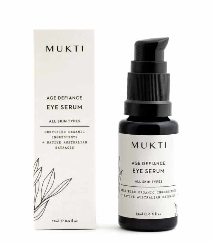 bottle and box with eye serum from Mukti