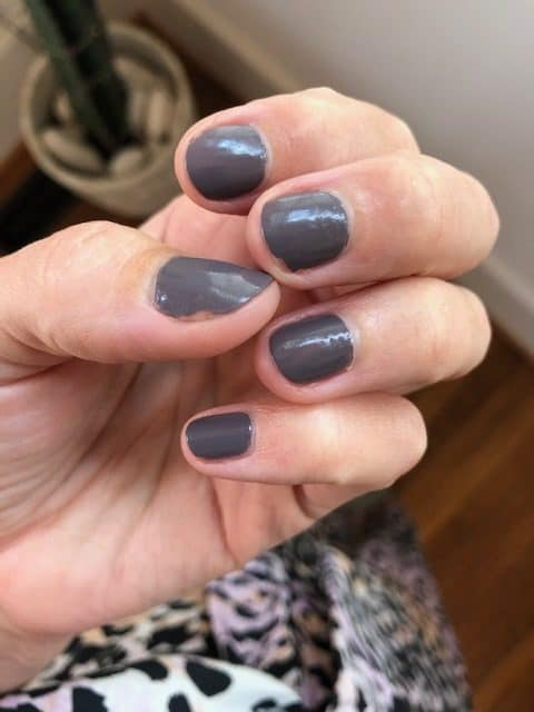 Sally hasen nail polish in soothing slate vegan