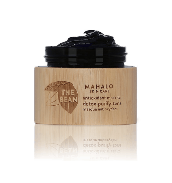 jar of The Bean by Mahalo face mask