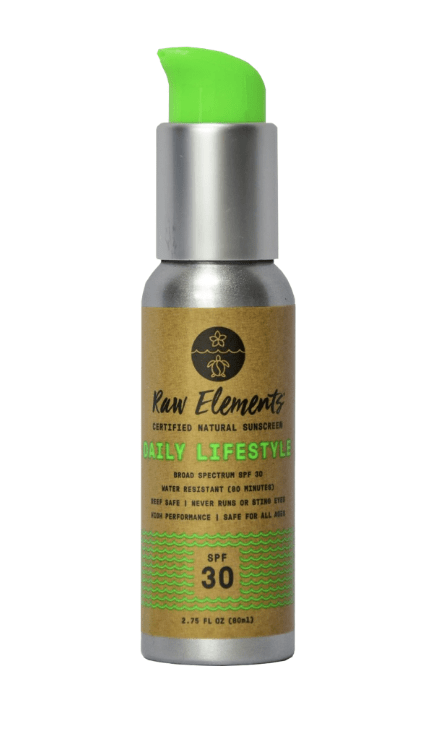 Raw Elements Lifestyle 30+ Pump sunscreen