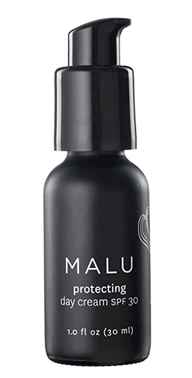 bottle of MALU Protecting Day Cream + SPF 30
