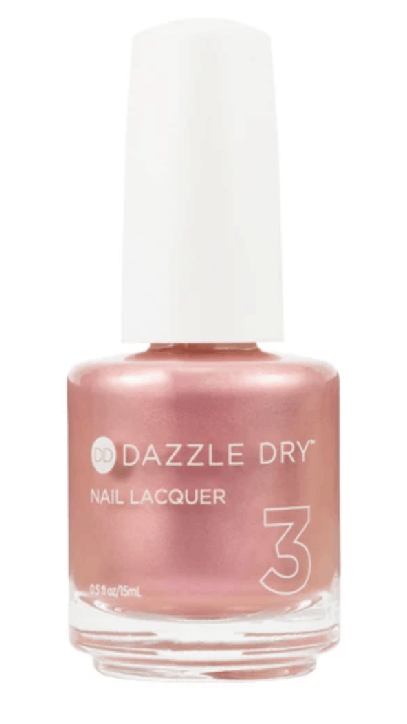 Dazzle dry nail polish bottle in peach