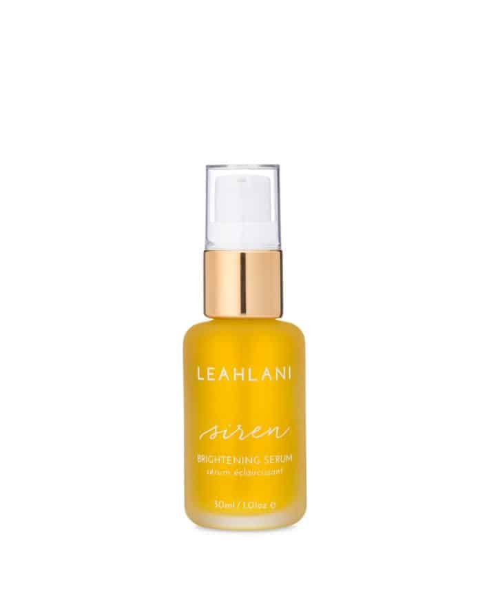 Bottle of facial serum from Leahlani