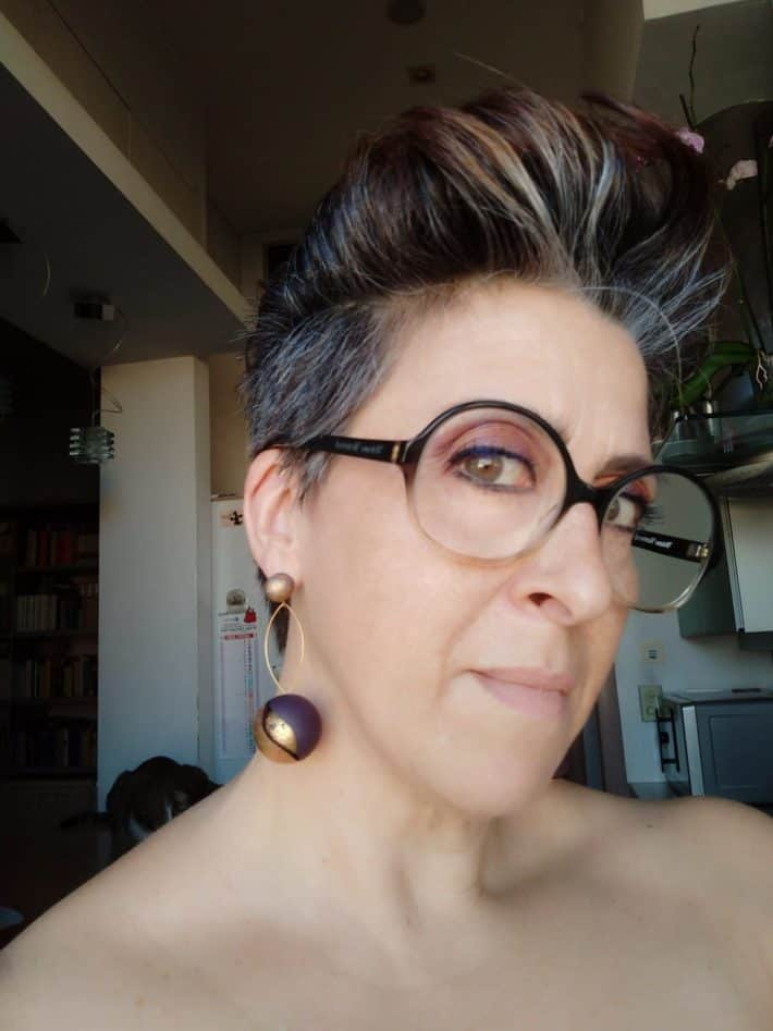 Gray hair pixie hairstyle
