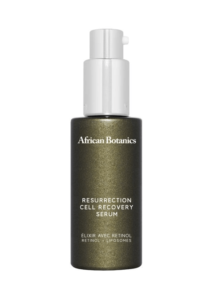 a bottle of resurrection serum on a white background