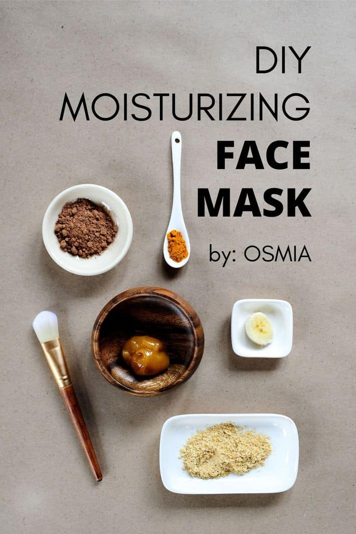 showing all the ingredients to make a diy moisturizing face mask