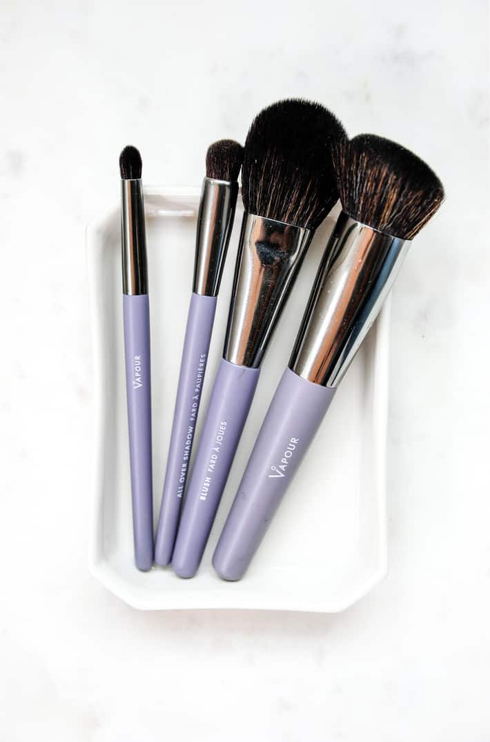 Set of makeup brushes from Vapour Beauty