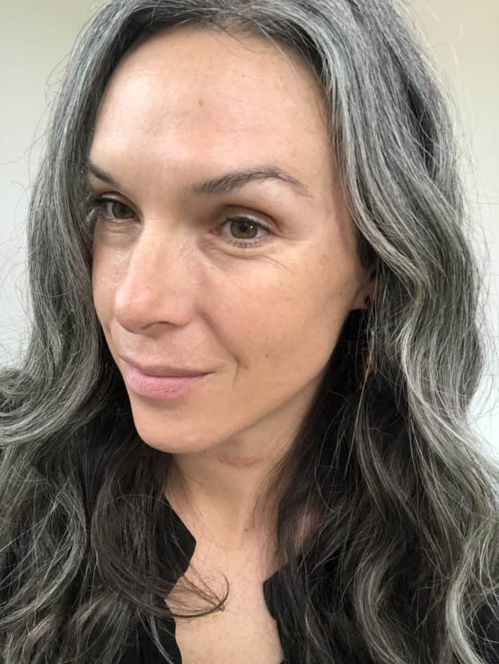 showing skin with foundation applied