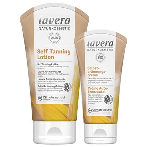 tube with self tanning lotion from lavera