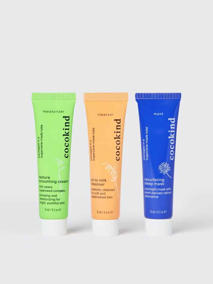 three tubes of skincare for acne