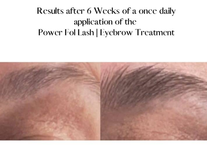 before and after using lash and brow serum 3