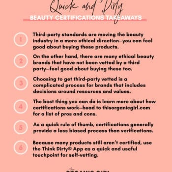 a list of tips on how to use beauty certifications